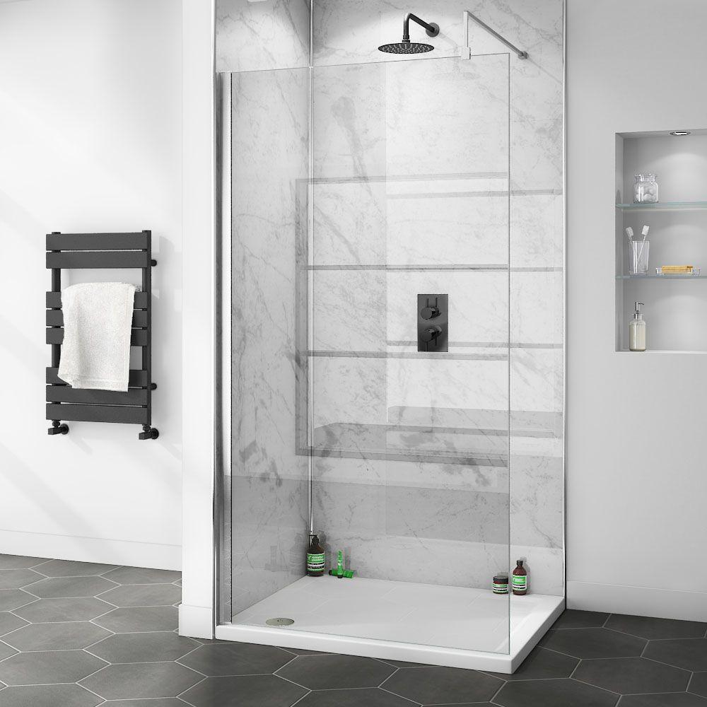 Orion White Marble 2400x1000x10mm Pvc Shower Wall Panel Victorian Plumbing Uk Pvc Shower Bathroom Wall Panels Shower Wall Panels