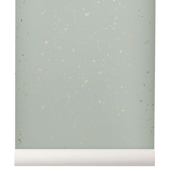 Confetti tapetti, mintunvihreä