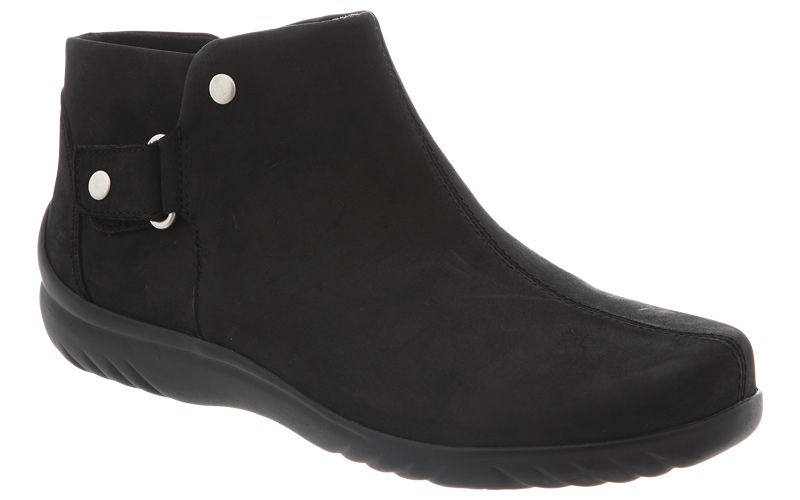 The Klogs VeronaThe beauty is in the details of the Verona ankle boot. This versatile women s bootie is crafted from naked leather and features side goring and a hook and loop closure for easy on off.  The coordinating front stitching adds sophisticated style.  The microfiber lining and lightweight Klog Komfort footbed provide soft cushioning and energizing support for long lasting comfort. The Verona bootie sits atop a wavy, polyurethane outsole that is slip resistant and lightweight for…