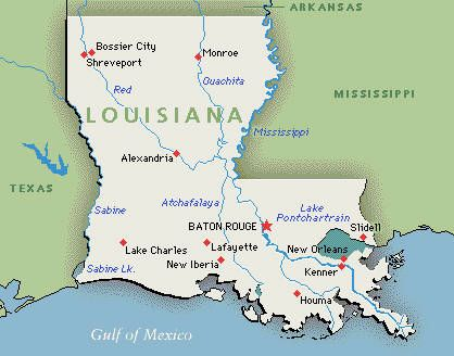 Louisana Lived In Abita Springs Covington Mandeville - Louisiana on usa map