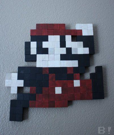 Classic Mario Pixel Art Preorder Pixel Art Art Mosaic Stone