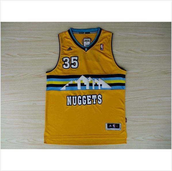 brand new 50fcc 72ac7 Mens Denver Nuggets Kenneth Faried 35 Yellow Authentic ...