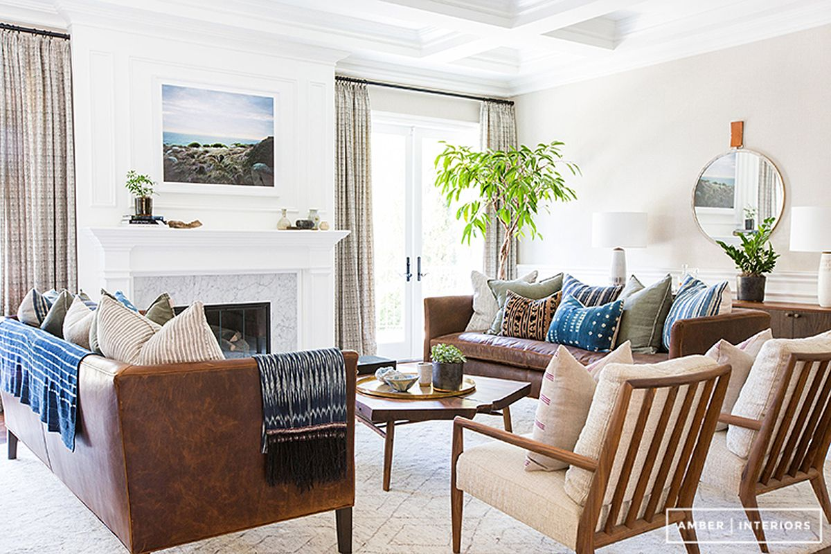Transitional Boho Living Get The Look Left Level White Furniture Living Room Living Room Leather Home Living Room #transitional #living #room #sets