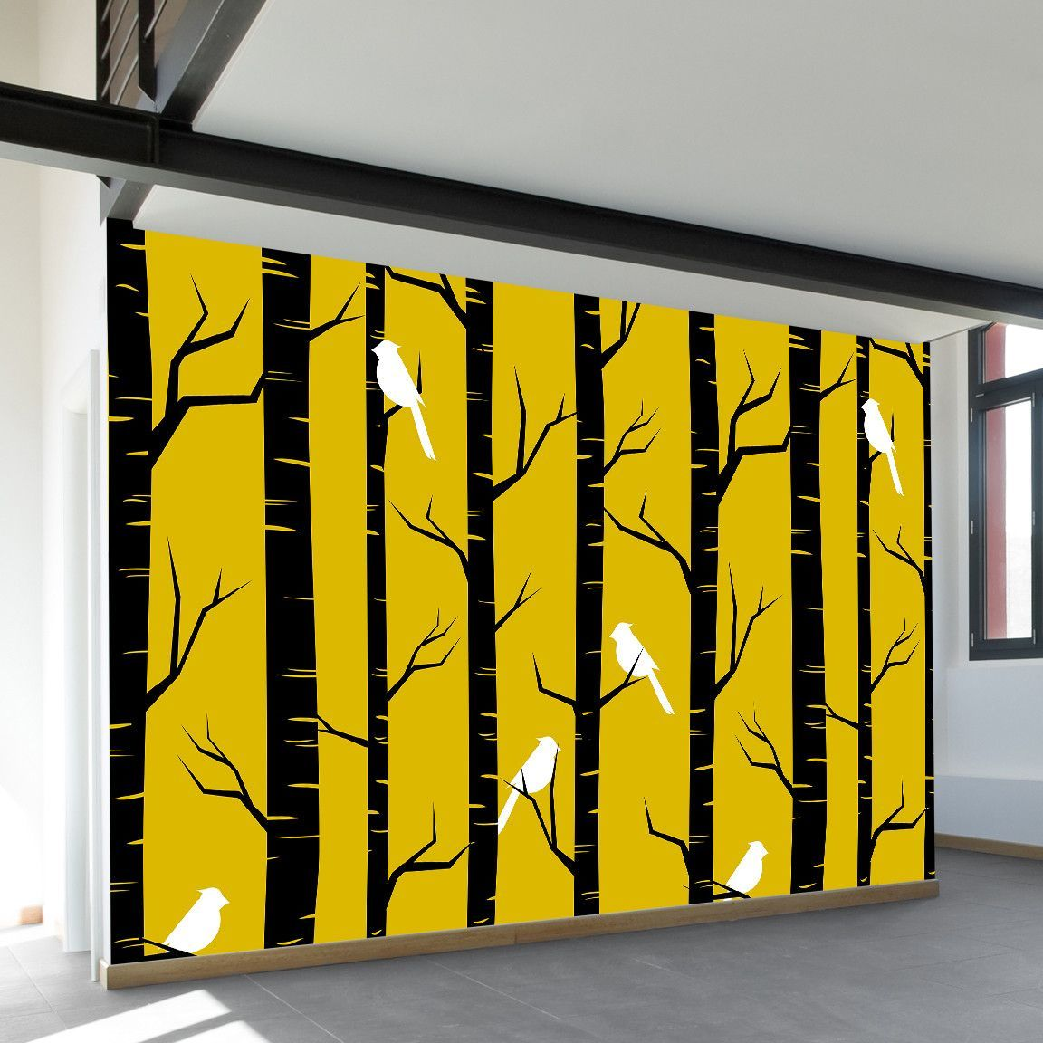 Birch Birds Wall Mural | Wall murals, Birch and Products