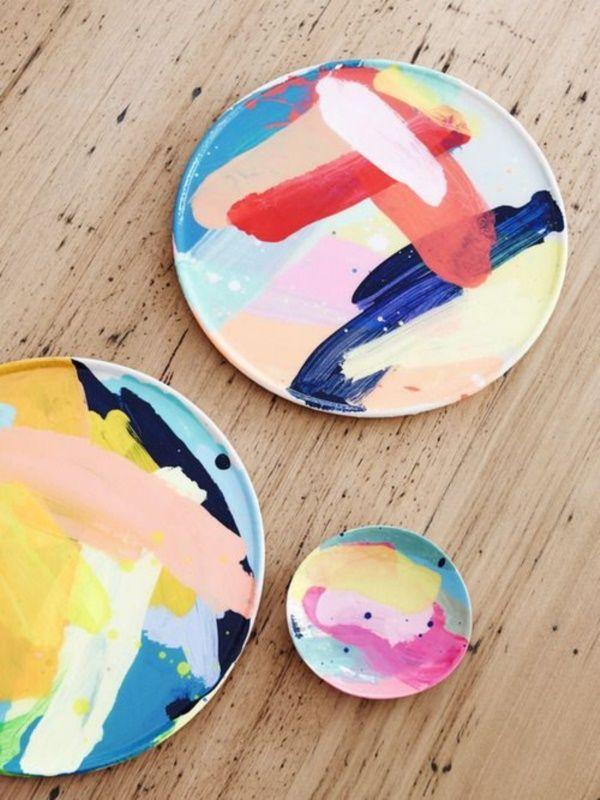 42 Ideen und Designs zum Bemalen von Keramik #paintedpottery