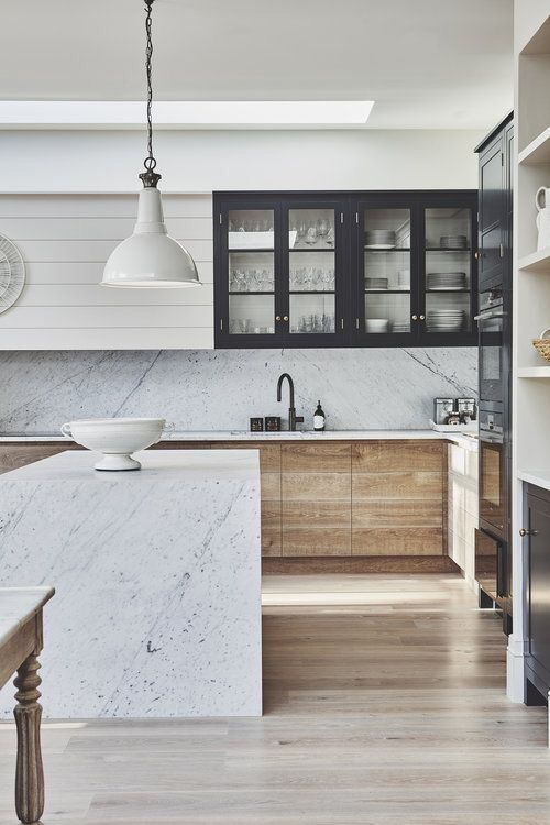 also navy white and wood kitchen homes interiors in pinterest rh
