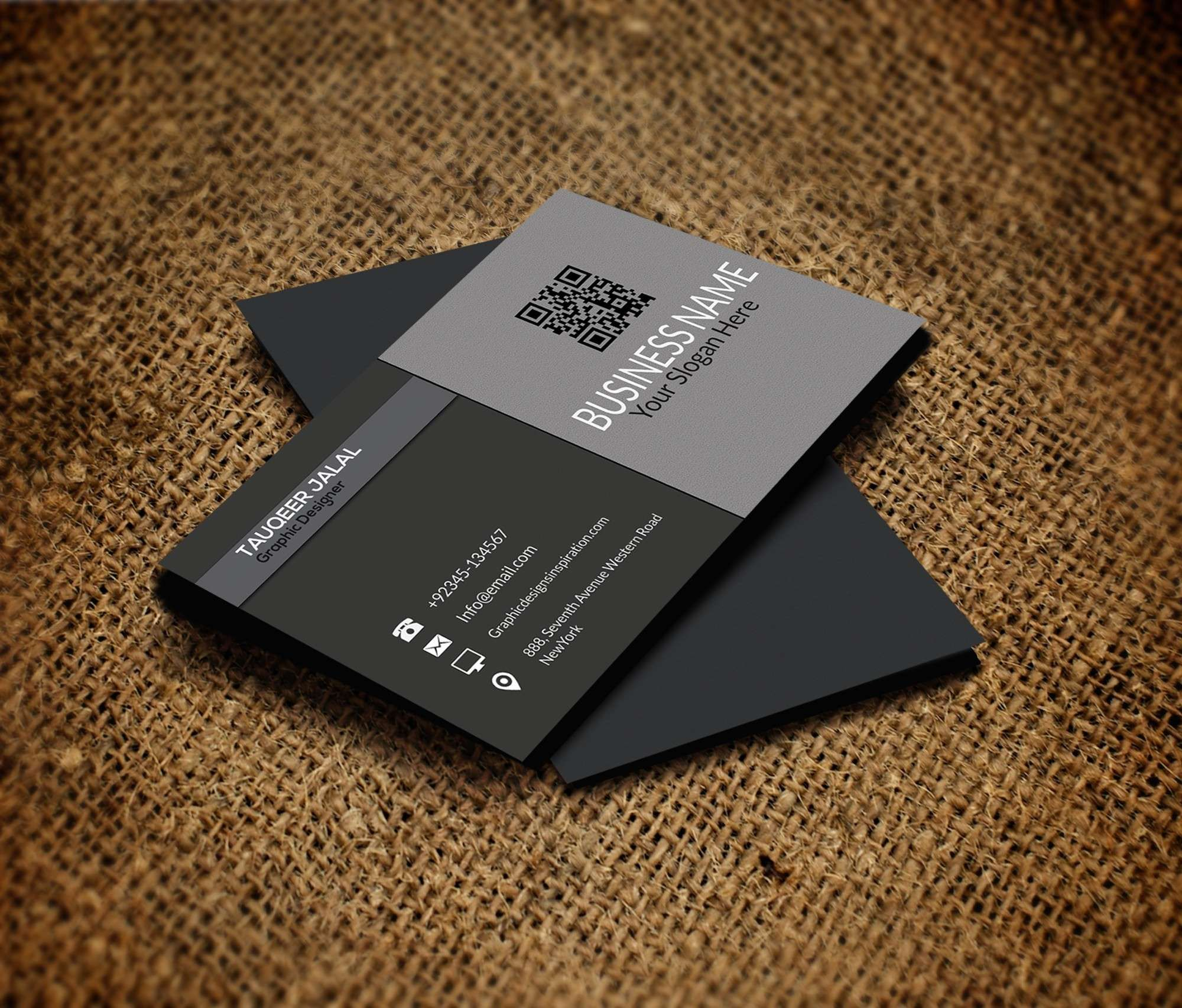 20 Free Indesign Business Card Template Free Business Card