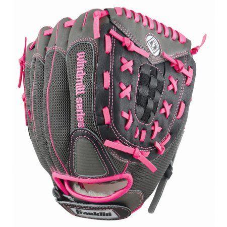 Pink//Gray Righty Glove Franklin Sports Windmill Series 11-Inch Softball Glove