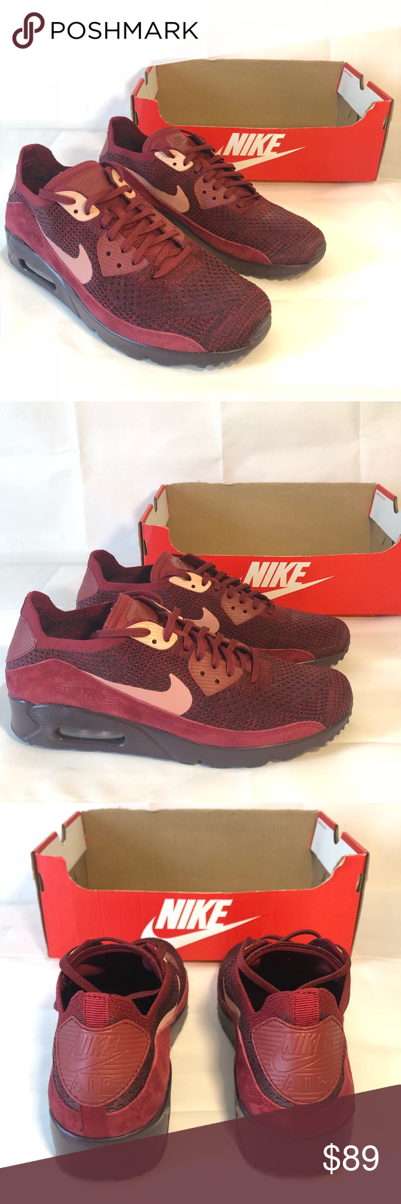 sports shoes ade2d a222f Nike Air Max 90 Ultra 2.0 Flyknit Shoes Team Red Mens Nike Air Max 90 Ultra