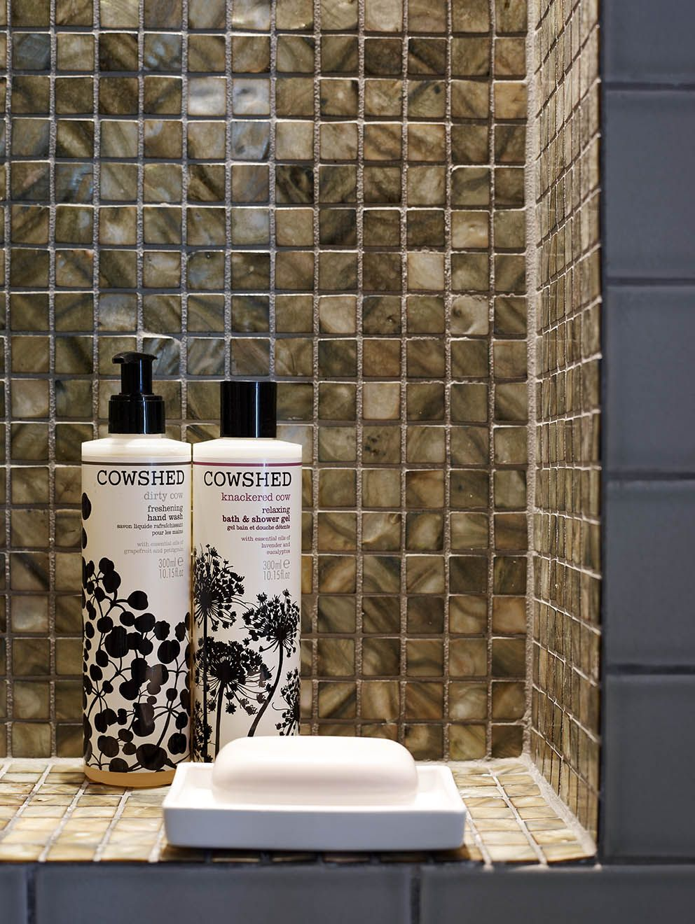 nicola holden designs - the finishing touches to the shower niche