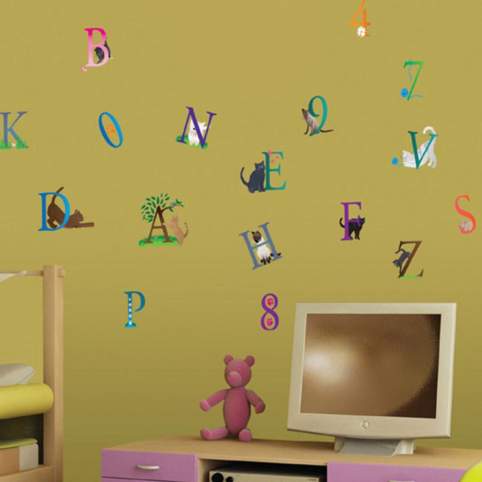 Art Applique by KMG Cats Alphabet Wall Decals - Beyond the Rack ...