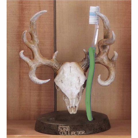 Bone Collector Deer Toothbrush Holder Manly Decor Brushing