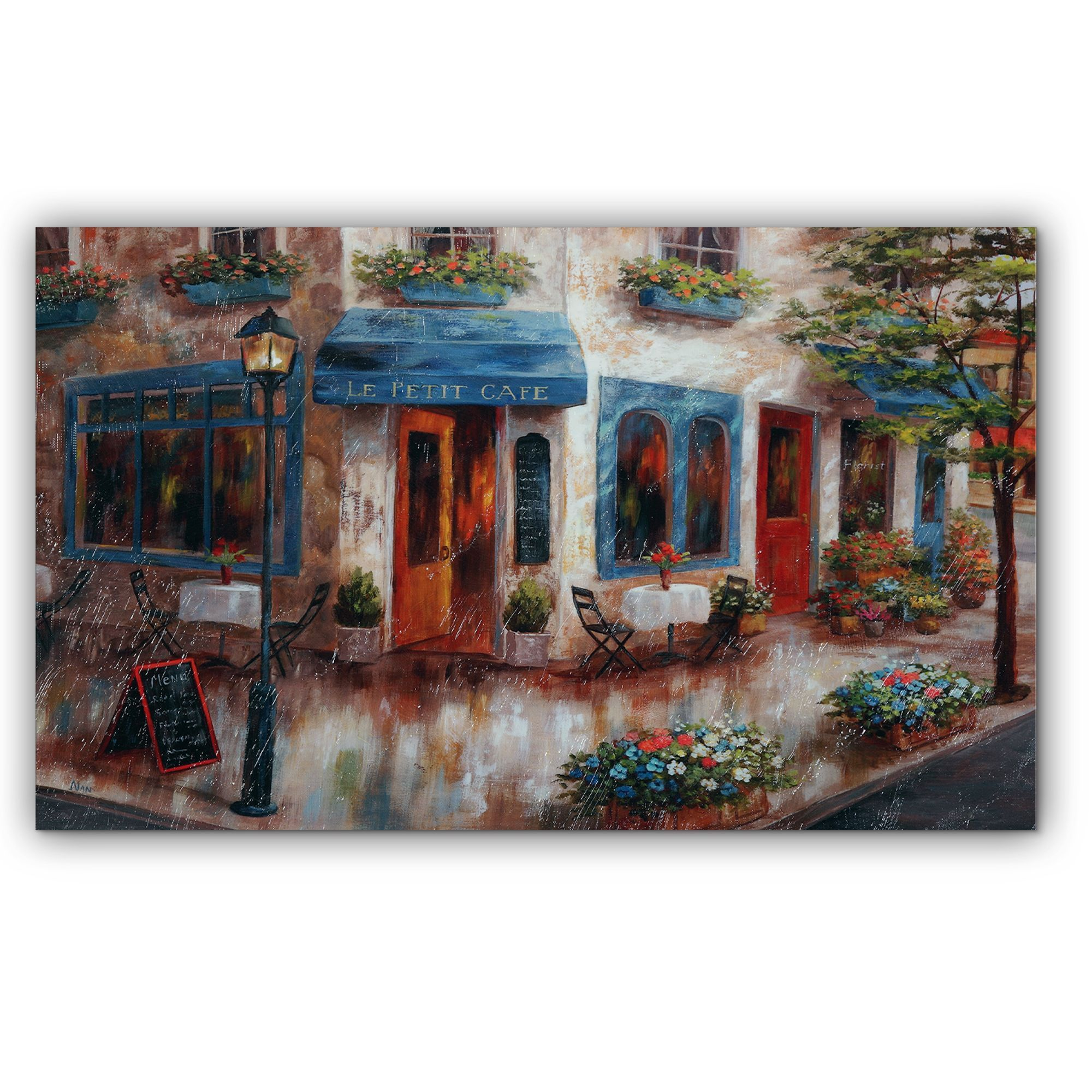Wexford Home Nan F  Le Petit Cafe  Canvas Art  42ff1b8fa8