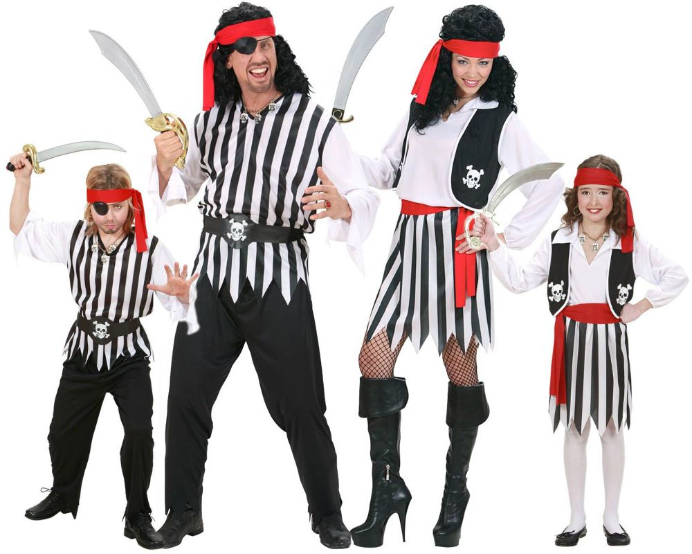 Familia de piratas disfraces carnaval - Disfraces en familia ...