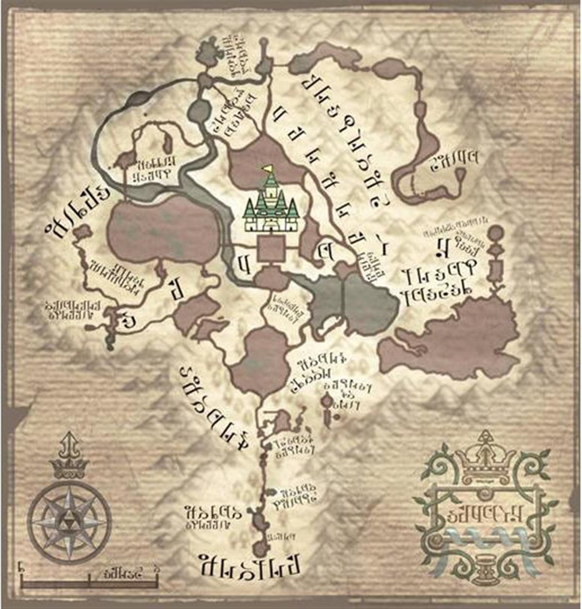 Legend of zelda twilight princess hyrule map nintendo wii legend of zelda twilight princess hyrule map nintendo wii version gumiabroncs Images