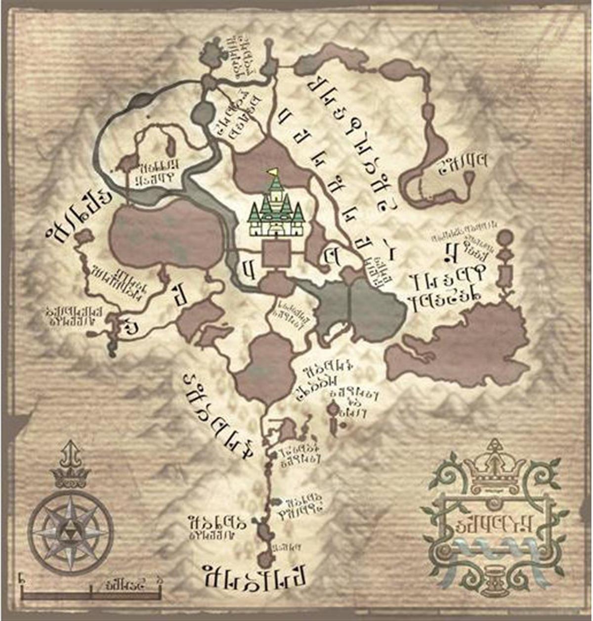 legend of zelda twilight princess hyrule map nintendo wii