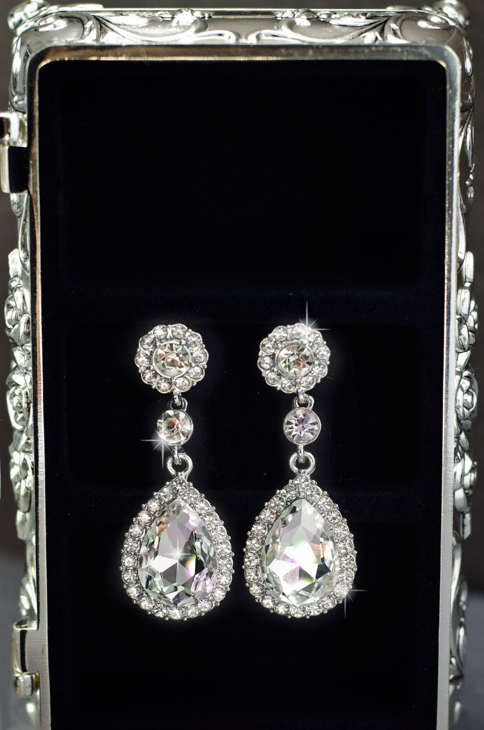 Crystal wedding earrings wedding jewelry teardrop bridal earrings crystal wedding earrings wedding jewelry teardrop bridal earrings vintage bridal earrings wedding arubaitofo Choice Image