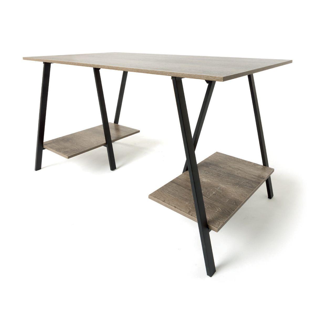 Industrial Trestle Desk Kmartnz Trestle Desk Desk With Drawers Industrial Desk