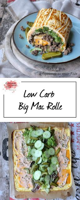 Low Carb Big Mac Rolle - Experimente aus meiner Küche