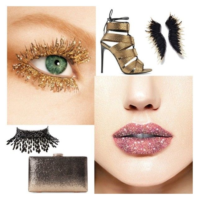 """""""//glitter lips//"""" by elle22elle ❤ liked on Polyvore featuring beauty, Tom Ford and Amrita Singh"""