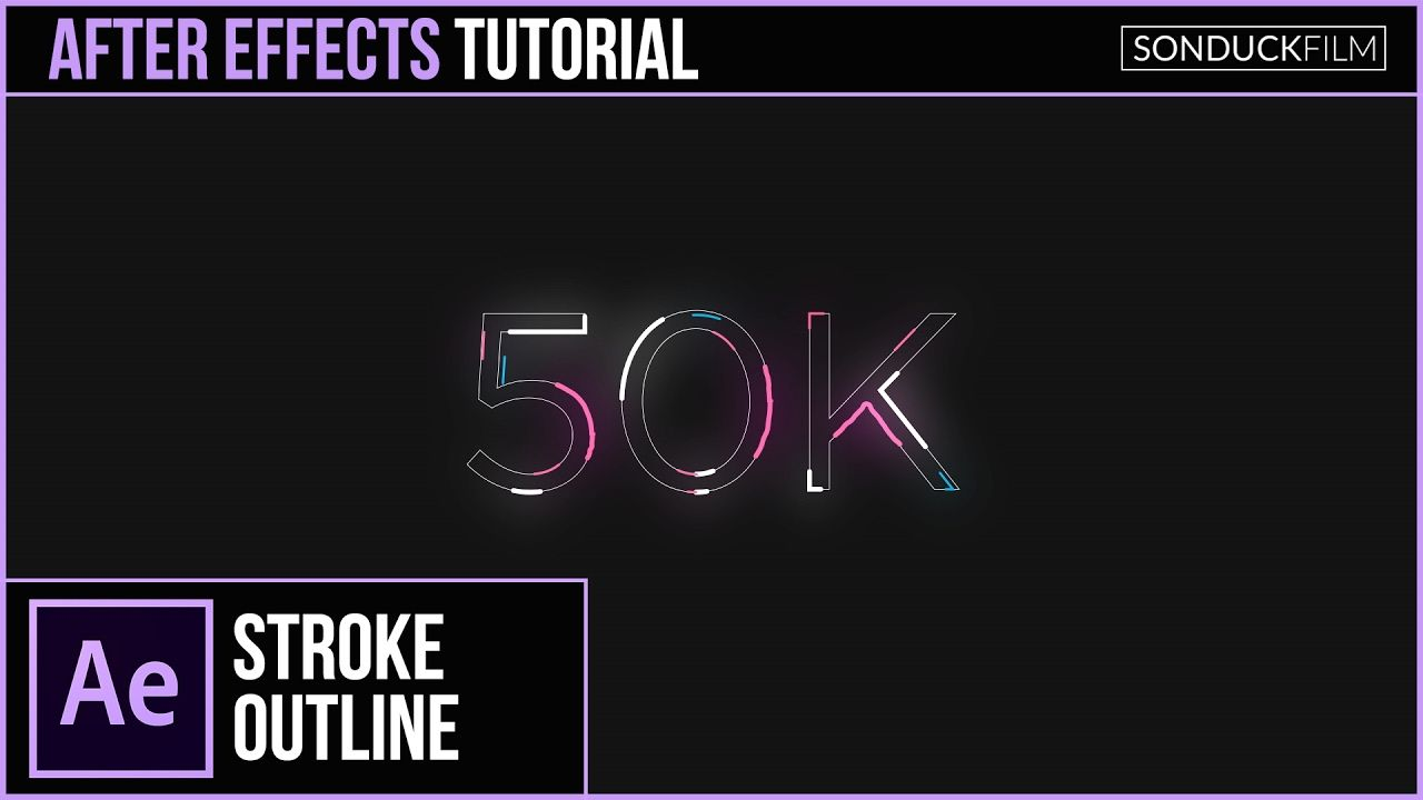 After effects tutorial animated stroke outline title motion after effects tutorial animated stroke outline title motion graphics baditri Choice Image