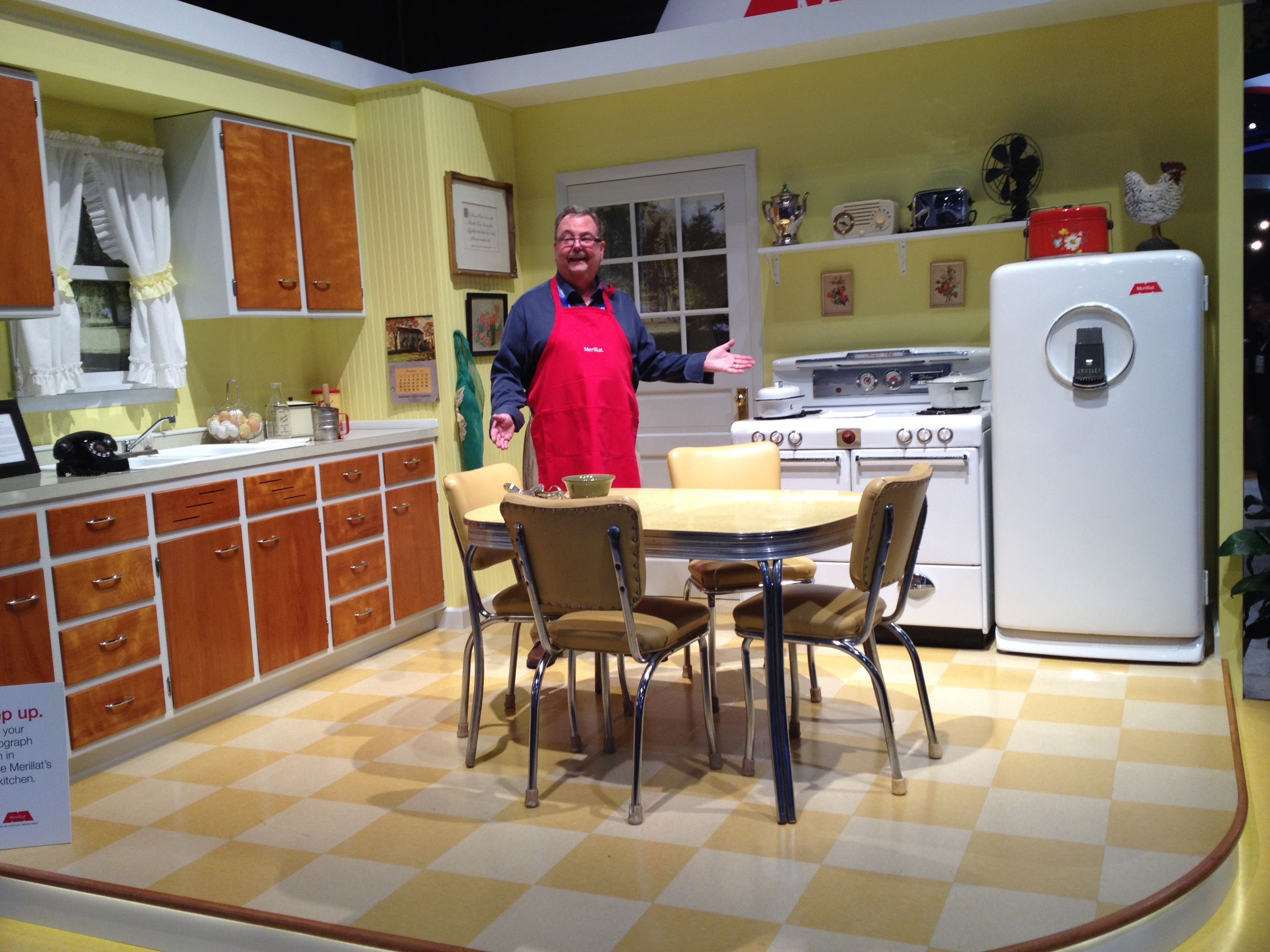 Gary Sannes From The S. Janis Company In The 1946 Merillat Kitchen On  Display At 2014 Kitchen And Bath Industry Show (KBIS)