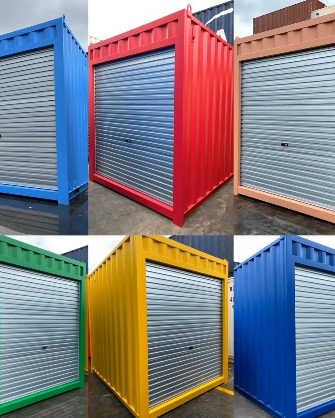 10ft High Cube Shipping Container Project Check Out The Bright Colours On A Shipping Container Project Fo In 2020 Container House Plans Container House Container Shop
