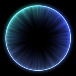 4 地面に浮かび上がる円と粒を追加する ゲームアート エフェクト 素材 クリエイティブな写真