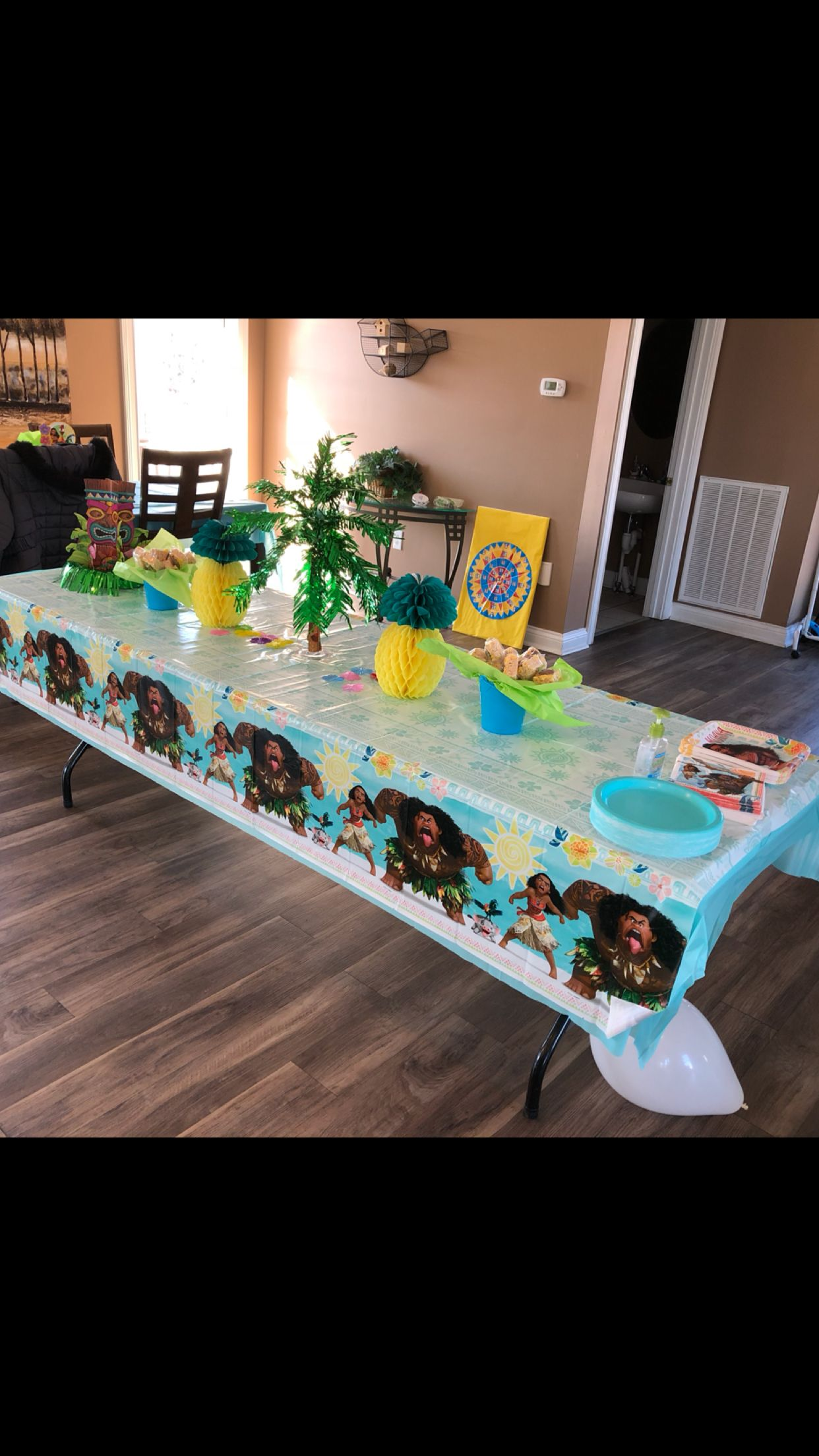 Pin by jessica jackson on moana party kids party tables