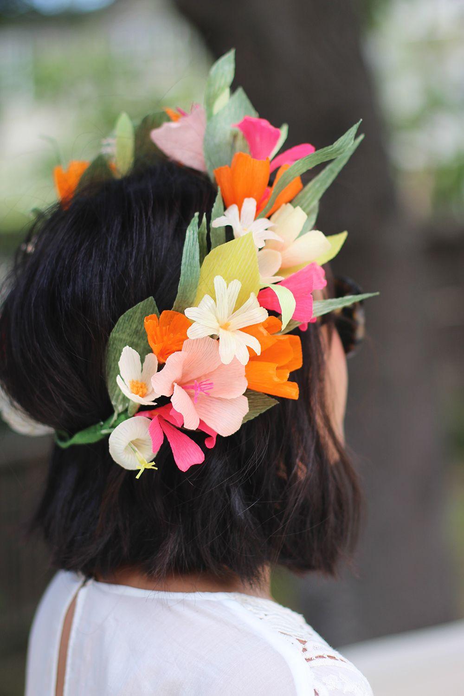 Diy Paper Flower Crown Les Enfants D Abord