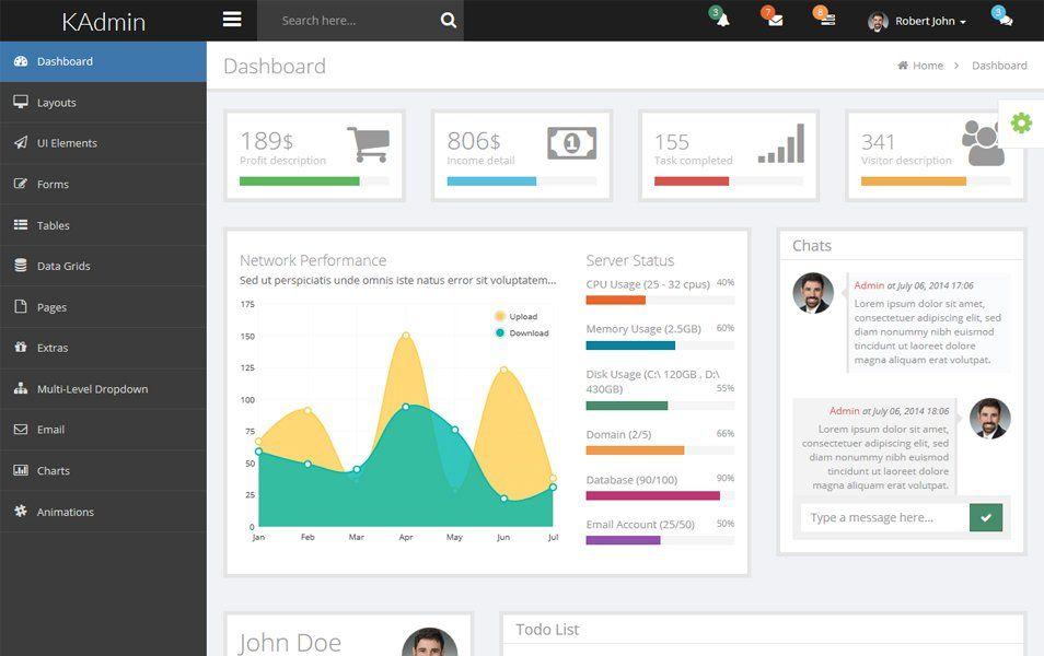 Kadmin Free Responsive Admin Dashboard Template