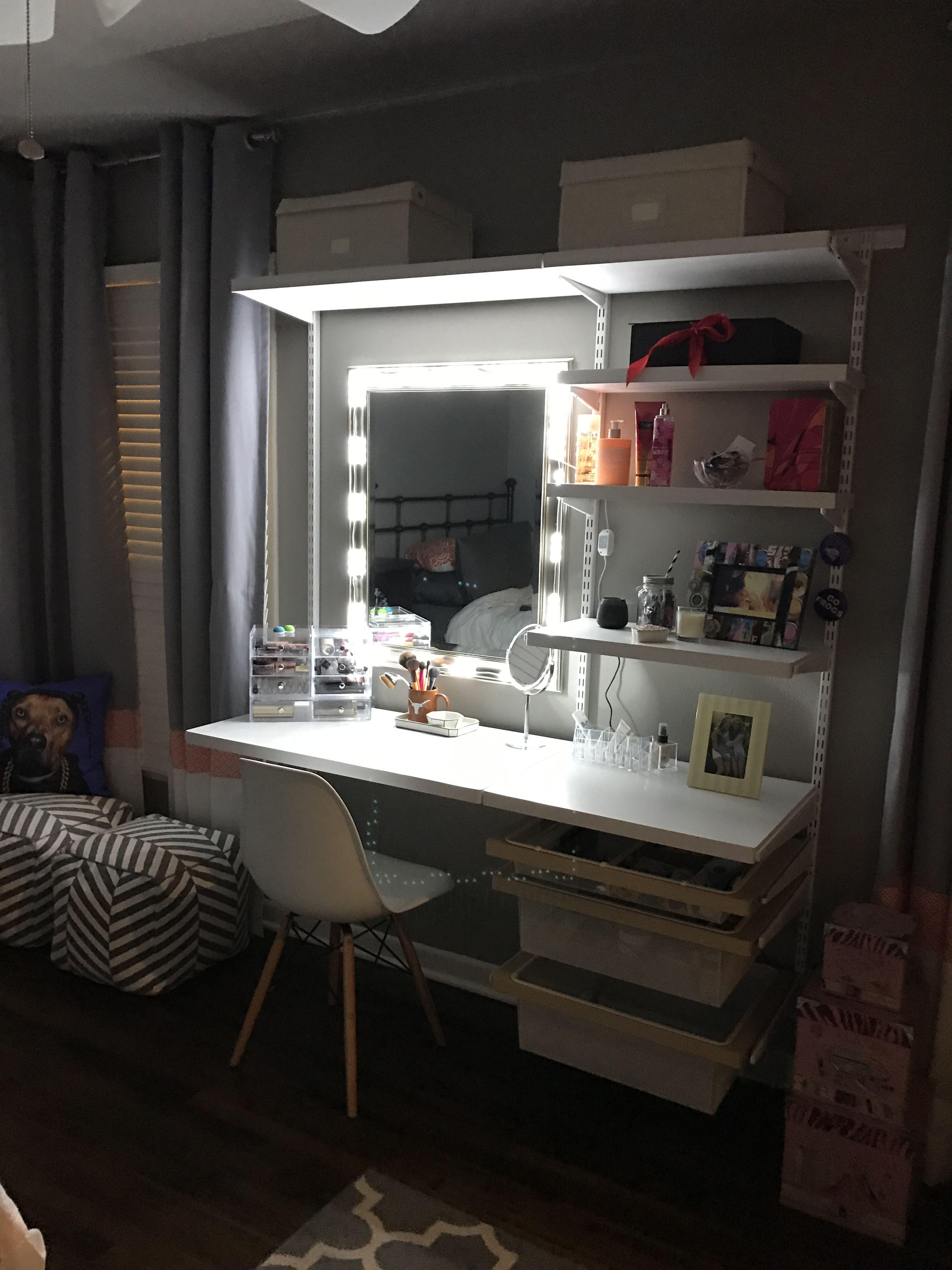 Makeup Vanity Elfa Container store. We already had the 24