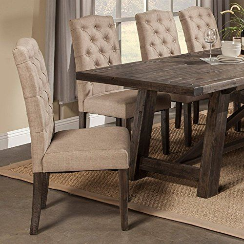 Alpine Furniture Newberry Parson Chairs Set of 2 ** For more