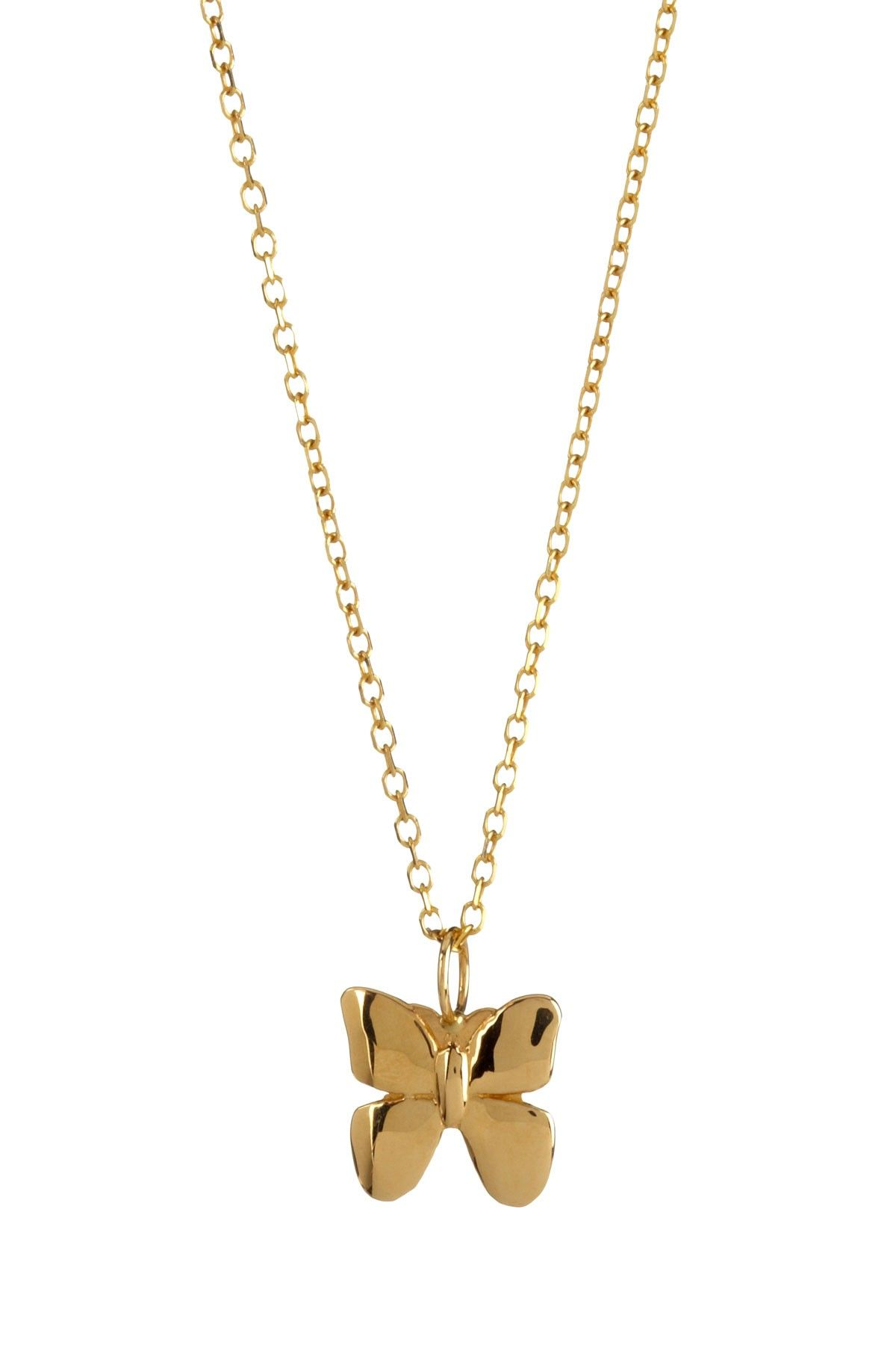 K yellow gold butterfly pendant necklace my style pinterest