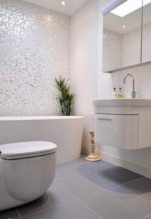 31 White Glitter Bathroom Tiles Ideas And Pictures Small Bathroom Remodel Bathroom Tile Designs Modern Bathroom