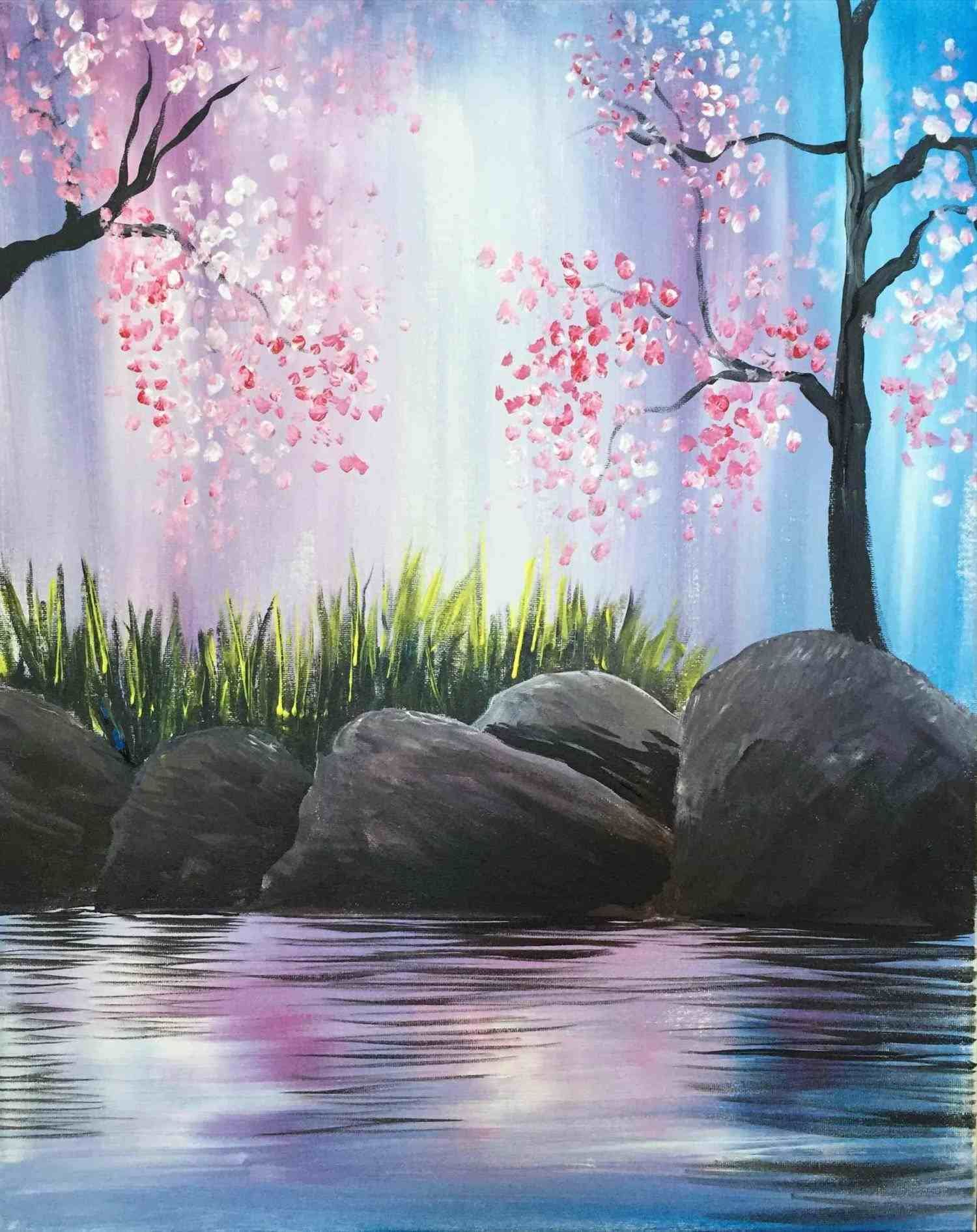 Acrylic Painting Ideas Google Search Night Painting Spring