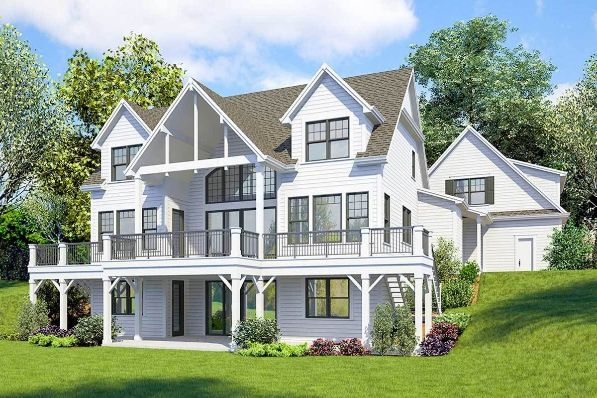 Plan 23771JD: Striking 4-Bed Farmhouse Plan with Walk-Out ...