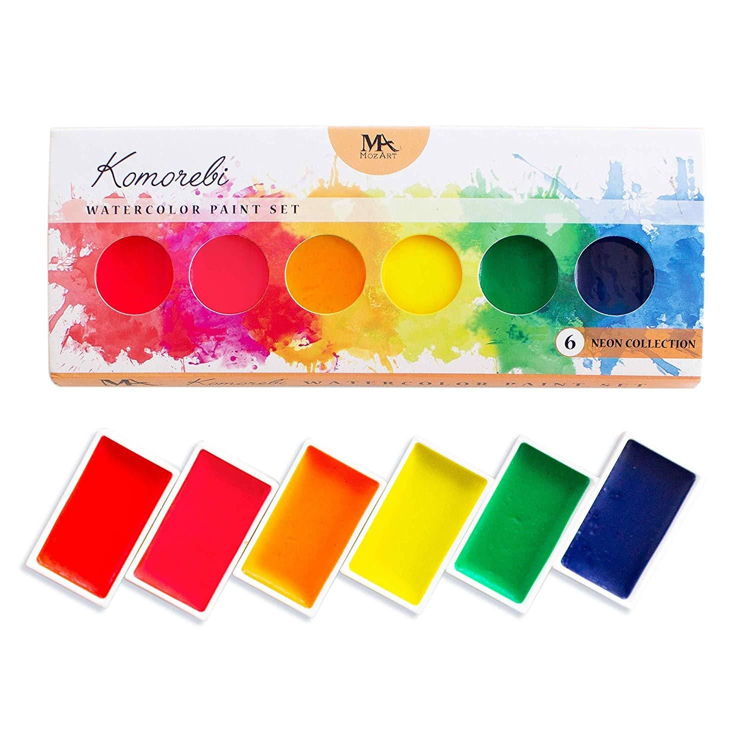 Neon Komorebi Watercolor Paint Set Watercolor Paint Set Paint