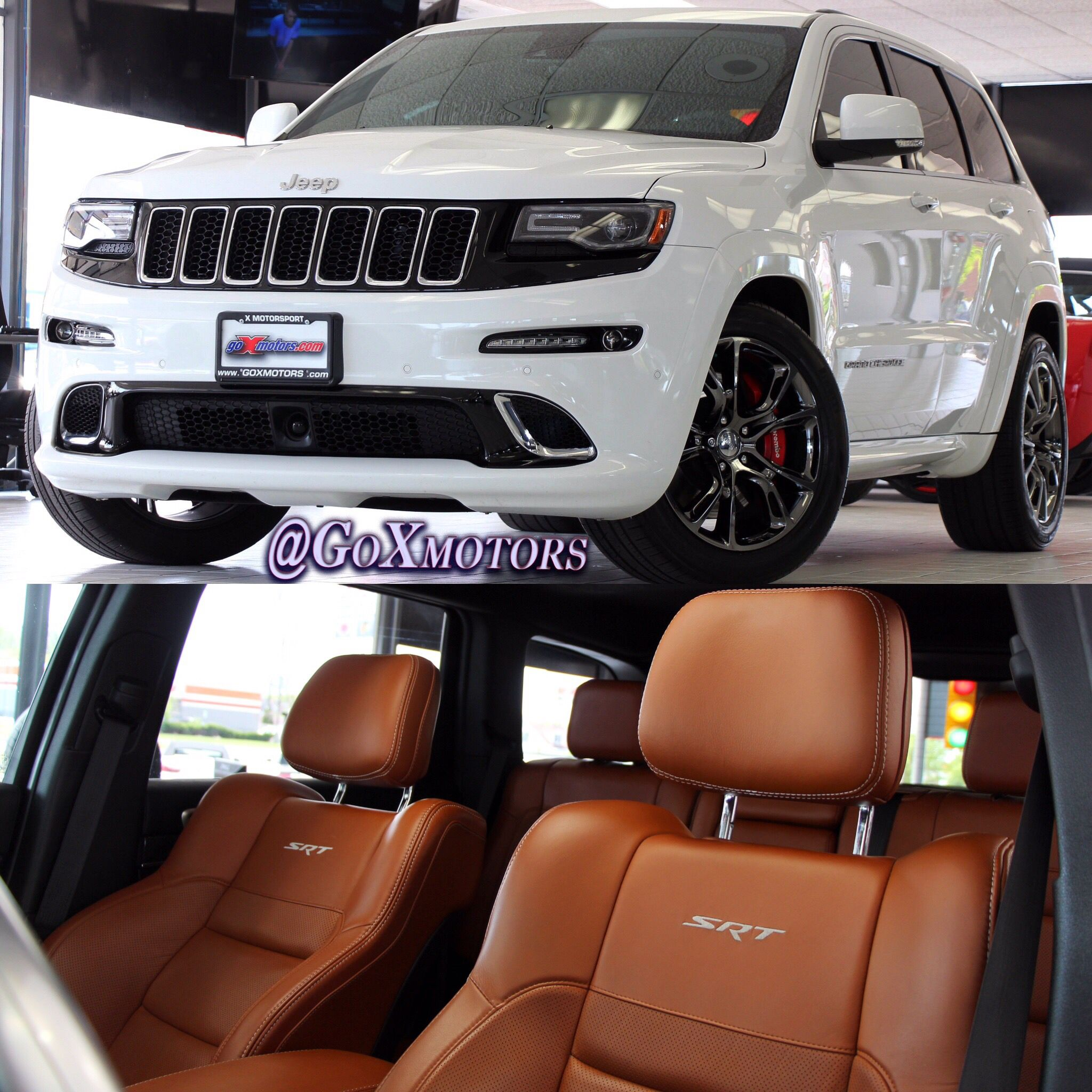 2014 Jeep Grand Cherokee Srt8 White Over Sepia Customwhips