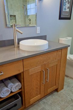 Vessel Sink Offset Faucet Contemporary Bathroom Sink Bathroom