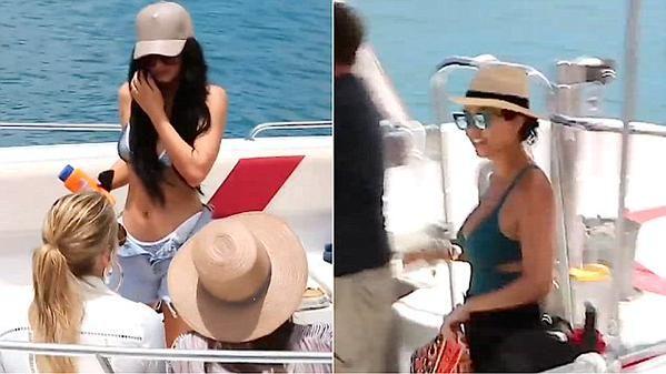 The Kardashian-Jenner girls enjoy filming in St. Barts - http://goo.gl/vzpJ8m