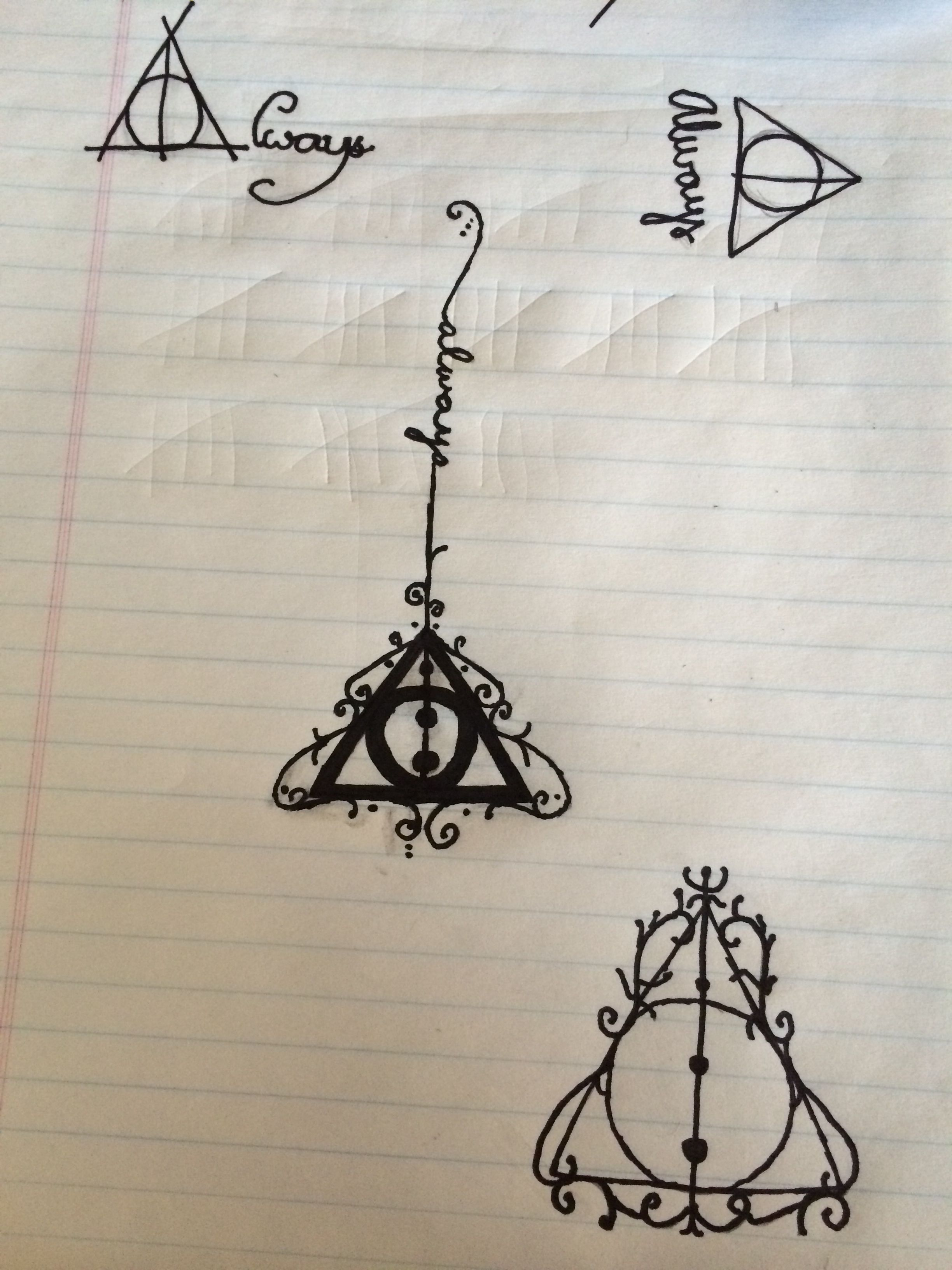 Deathly Hallows! Different styles to make it more beautiful!