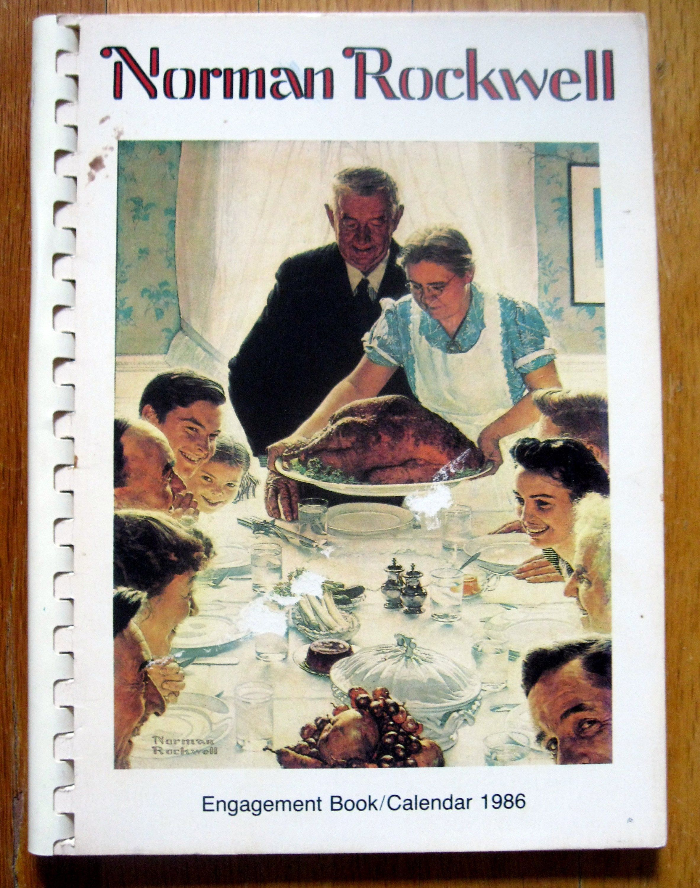 1986 Norman Rockwell Engagement Book Calendar 57 Norman Rockwell