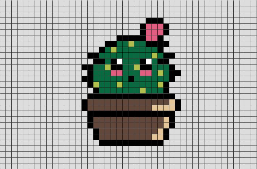 Cactus Pixel Art | Brik Pixel Art Designs | Pinterest ... - Pixel Art Papillon