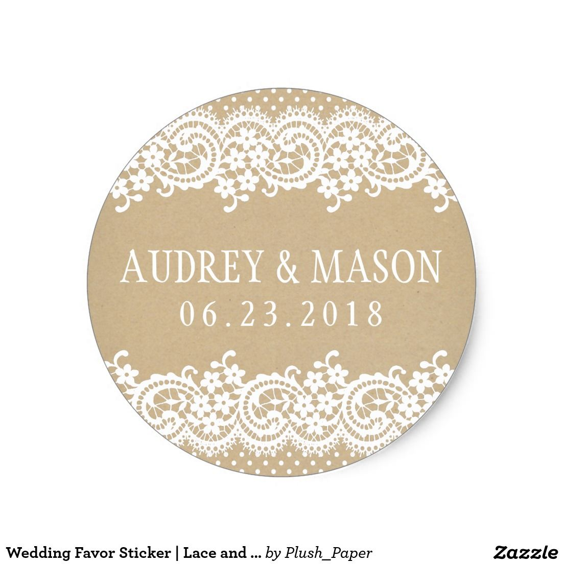 Wedding Monogram Sticker | Lace and Kraft | Wedding monograms ...