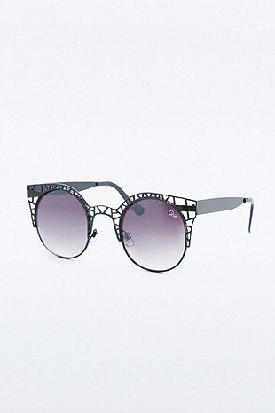 Quay Australia - Fleur - Lunettes de soleil yeux de chat - Noir 55zbad