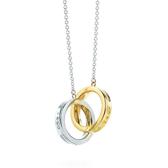 Tiffany 1837™ interlocking circles pendant in sterling silver and 18k gold.