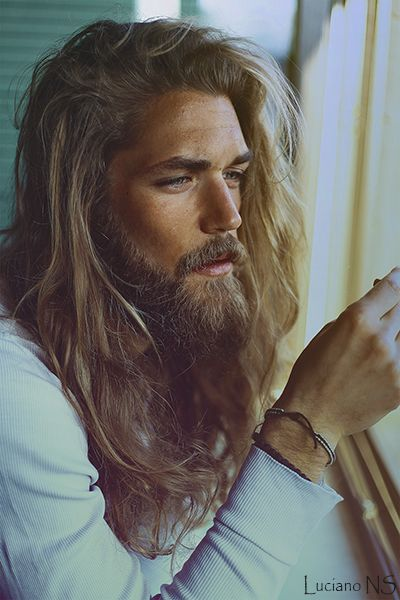 Cute Blond Guy With Long Hair And Beard Everything Pinterest