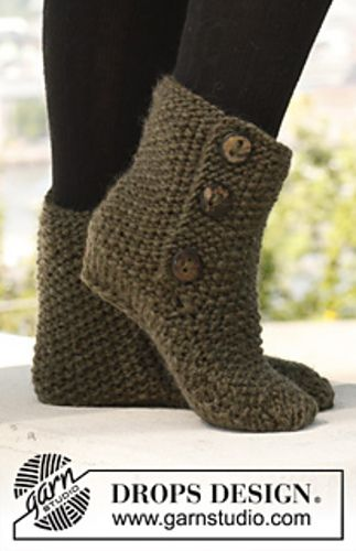 Free Pattern: 142-36 St Louis Boots - Slippers in seed stitch | free ...