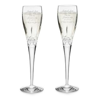 Engraved Kaitlyn Crystal Toasting Flutes These Are Also Beautiful